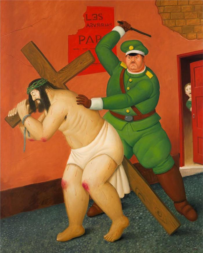 F.Botero, El camino de las penas, 2010, museo colombiano di Antioquia