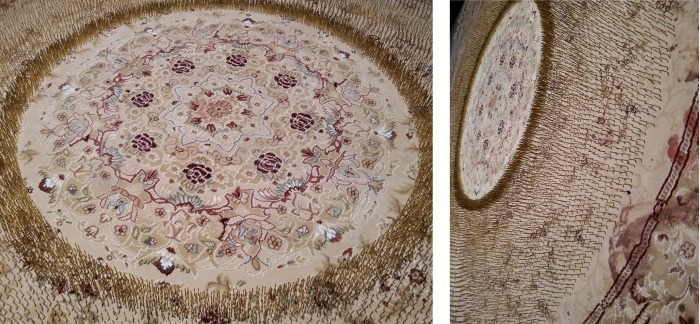 Faig Ahmed, Limits, tappeto, chiodi, sangue, 2015