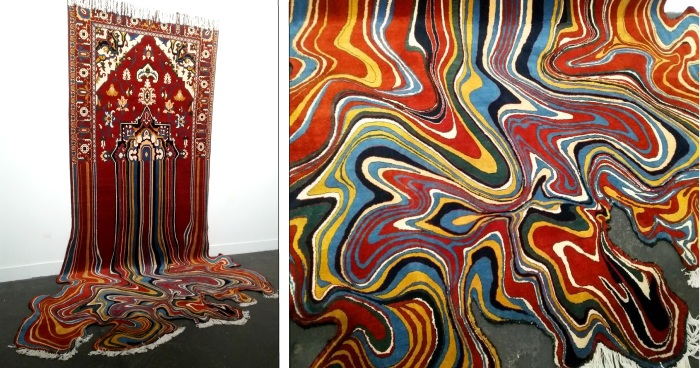 Faig Ahmed, Liquid, tappeto di lana tessuto a mano, 2014