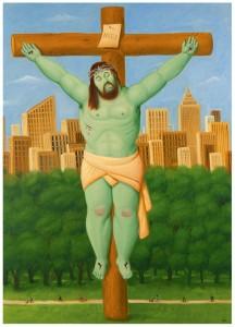 F.Botero, Crucifixiòn, 2011, museo colombiano di Antioquia