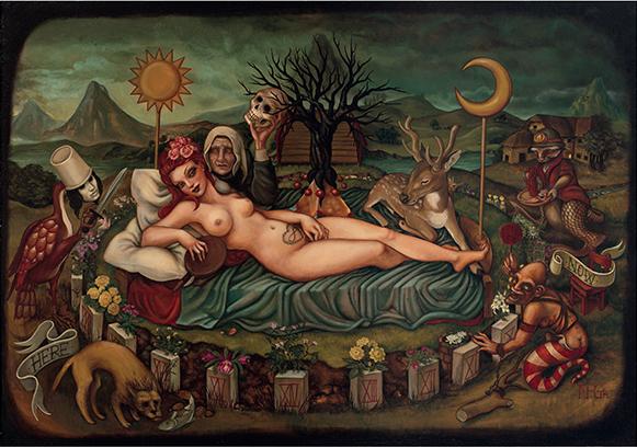 Morg Armeni, Flora's vision_2014, olio su tela, 100x70 cm