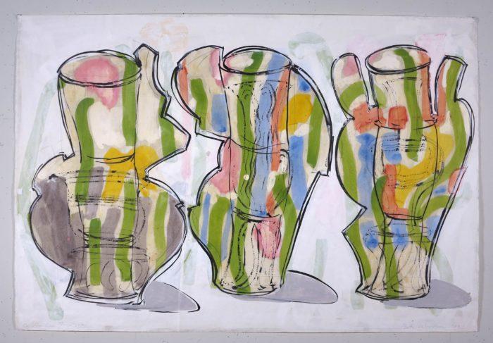 Betty Woodman, Summer Triptych, 2003, courtesy of Galleria Lorcan O'Neill
