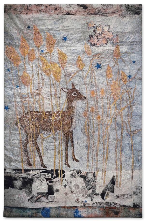 Kiki Smith, Fortune, 2014, arazzo Jacquard, courtesy of Galleria Lorcan O'Neill
