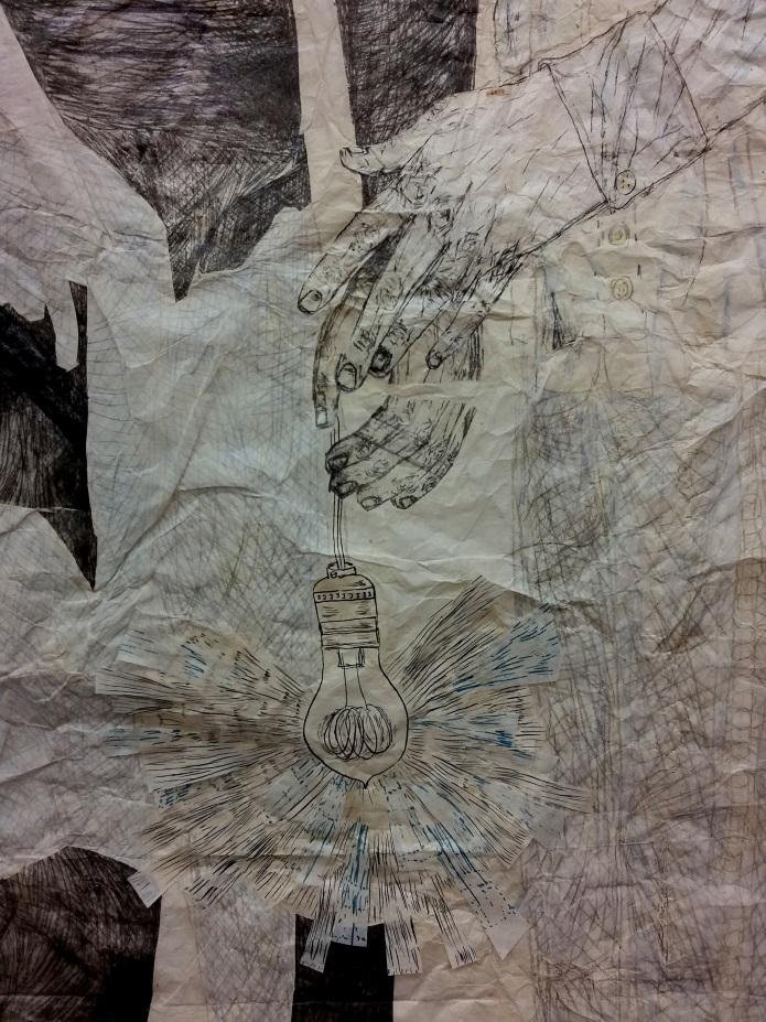 Kiki Smith, Gathering, 2014, collage su carta nepalese, dettaglio