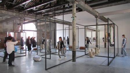 57. Esposizione Internazionale d'Arte, Padiglione del Tempo e dell'Infinito, Alicja Kwade, WeltenLinie,Venezia 2017.